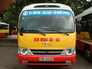 Lộ trình xe bus tuyến 13 tại Hà Nội