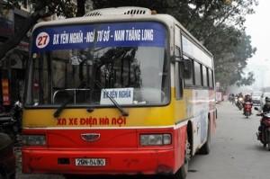 Lộ trình xe bus tuyến 27 tại Hà Nội