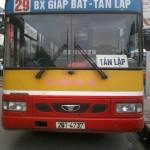 Lộ trình xe bus tuyến 29 Hà Nội