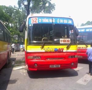 Lộ trình xe bus tuyến 52A tại Hà Nội