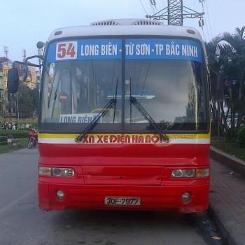Lộ trình xe bus tuyến 54 tại Hà Nội