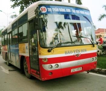 Lộ trình xe bus tuyến 59 tại Hà Nội