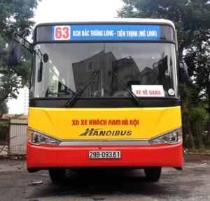 Lộ trình xe bus tuyến 63 tại Hà Nội