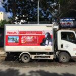quảng cáo xe tải